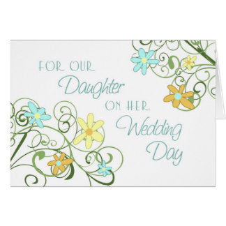 Flowers Daughter Wedding Congratulations Card