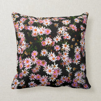 Flowers Design in a Posterised Pattern Cushion