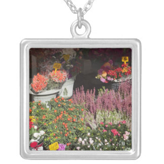 flowers displayed for sale in the Campo de' Silver Plated Necklace