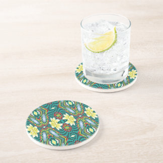 Flowers, Drinking Coaster - Design Flowers Swirl