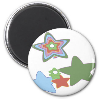 flowers-easter 6 cm round magnet