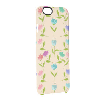 flowers fantasy clear iPhone 6/6S case