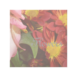 Flowers Floral Decor Picture Soft Decorative Gallery Wrapped Canvas