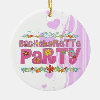 flowers floral hippie bachelorette party bridal round ceramic decoration