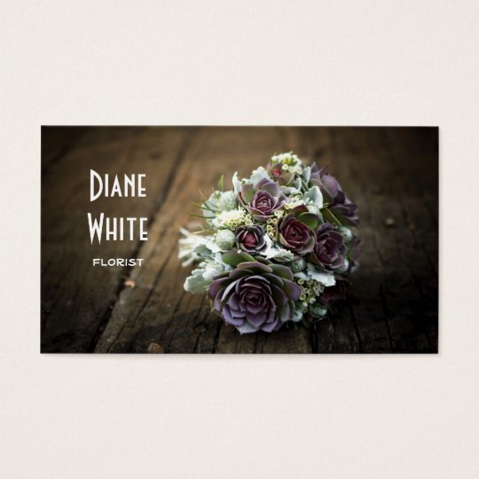 Flowers, Floral Shop, Florist Business Card