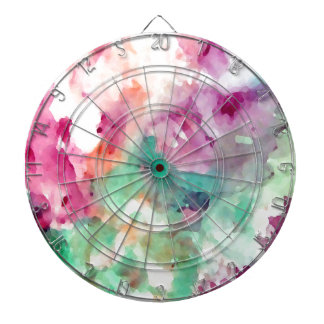 Flowers Floral Watercolor Pretty Mom Gifts Dartboard