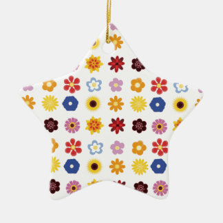 flowers,flowers and more flowers! christmas ornament