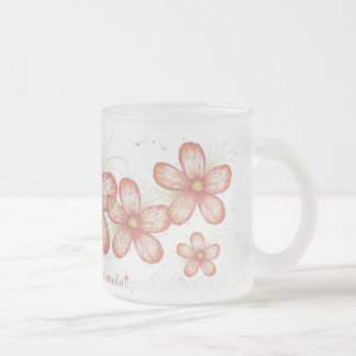 Flowers, Flowers and more Flowers,... Frosted Glass Mug