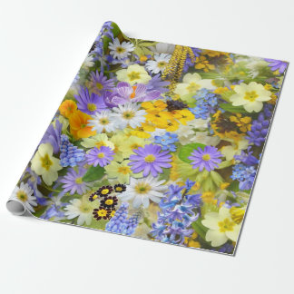 Flowers, Flowers, Flowers Wrapping Paper