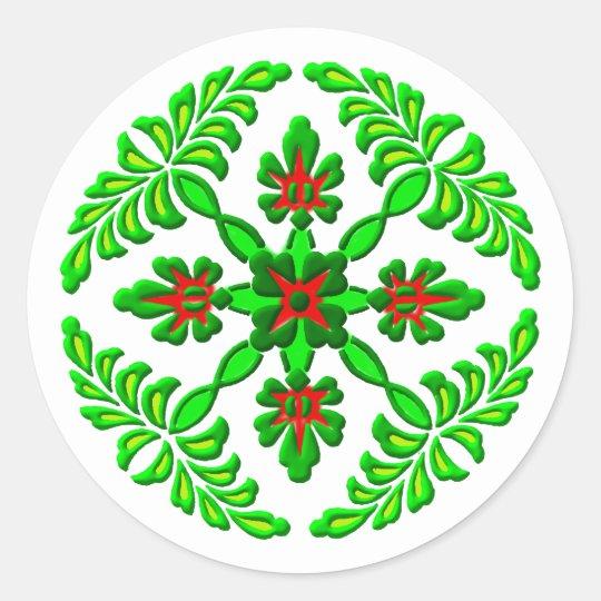 Flowers flowers round sticker