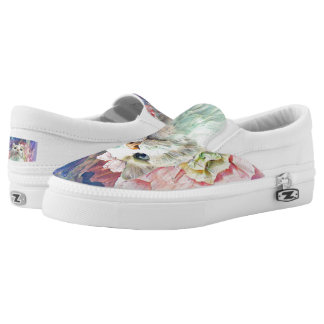 Flowers & Flutterbys Zipz Slip On Shoes