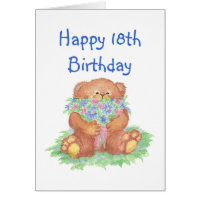 Flowers for 18th Birthday Card