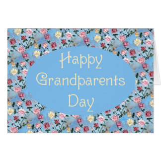 Flowers For Grandma-Grandparents Day Greeting Card