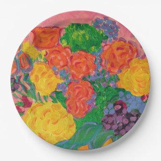 Flowers for Karen 9 Inch Paper Plate