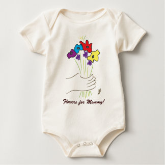 Flowers for Mommy! Baby Bodysuit