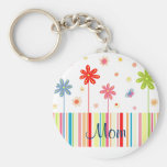 Flowers for Mother's Day Basic Round Button Key Ring