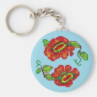 Flowers For My Belle II - Lt Blue Bkg Keychains