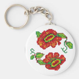 Flowers For My Belle II - White Bkg Keychain