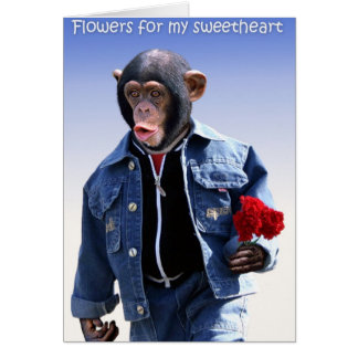 Flowers For My Sweetheart Card