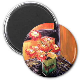 Flowers for you 6 cm round magnet