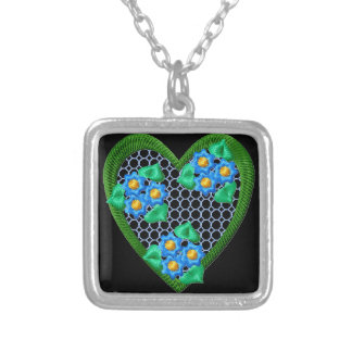 Flowers Forget-Me-Not Heart Pendant