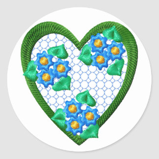 Flowers Forget-Me-Not Heart Sticker