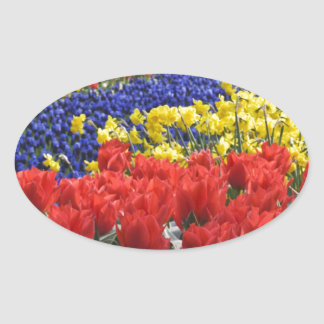 Flowers from Holland, Keukenhof Oval Sticker