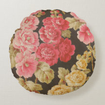 Flowers from Russia Round Pillow