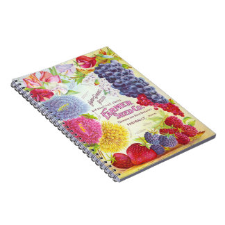 Flowers & Fruit Vintage Catalog Cover Note Books