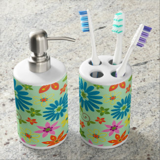 Flowers Funky Vintage Bath Dispenser