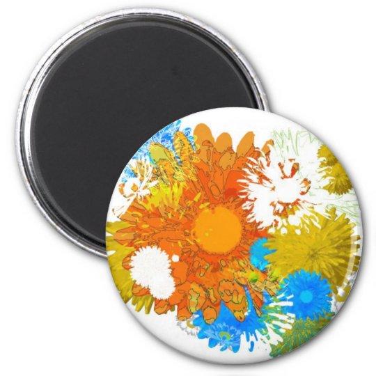Flowers Galore 6 Cm Round Magnet