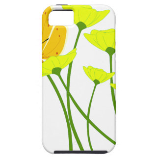 flowers garden butterfly nature yellow blossoms iPhone 5 cover