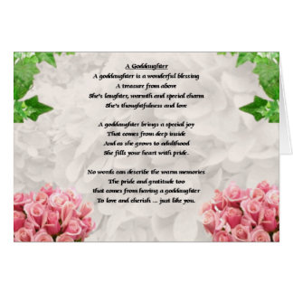 Flowers Goddaughter poem Card