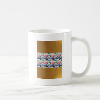 Flowers Gold Plated Stripes Template DIY add TXT Mugs