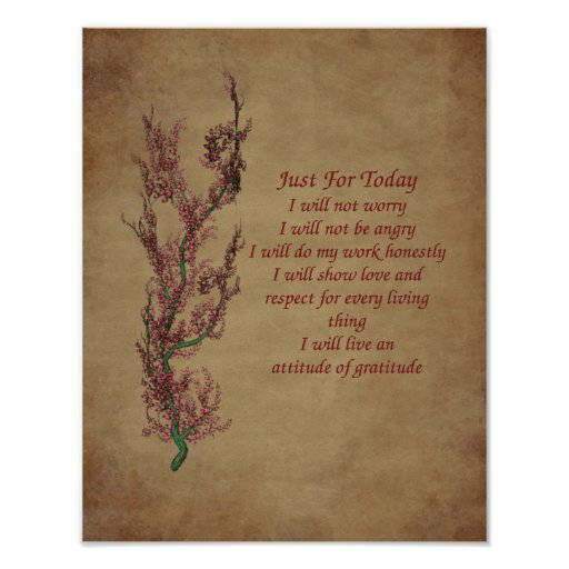 Flowers Gratitude Quote Inspirational Poster