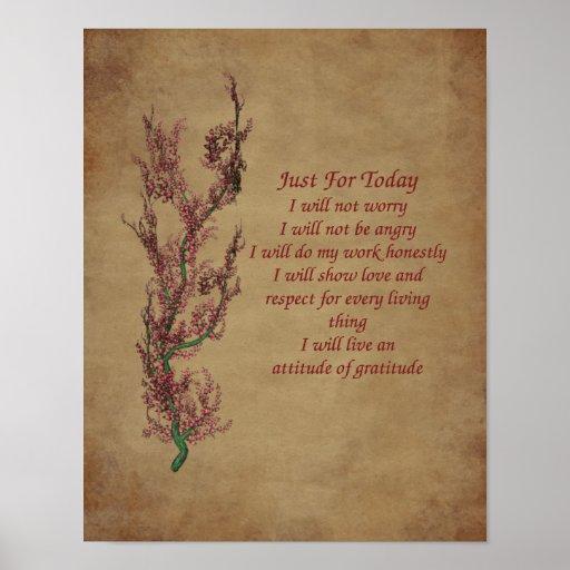 Flowers Gratitude Quote Motivational Poster