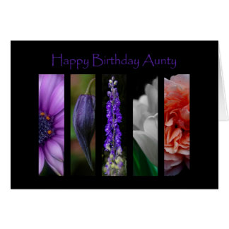 Flowers Happy Birthday Aunty Card