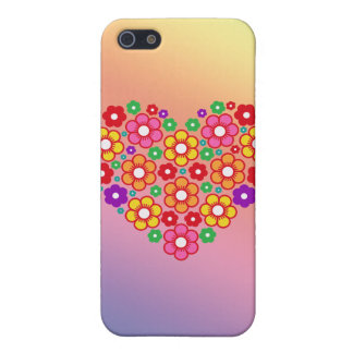 FLOWERS HEART COVER FOR iPhone 5