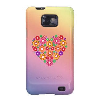 FLOWERS HEART Samsung Galaxy S II Case Galaxy SII Cover