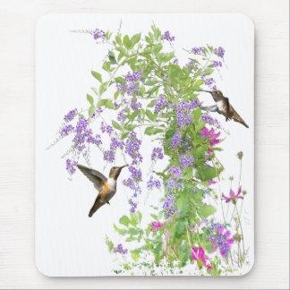 Flowers & Hummingbirds Mousepad