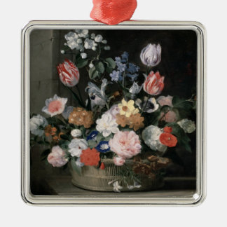Flowers in a Basket, 1650-56 Christmas Ornament