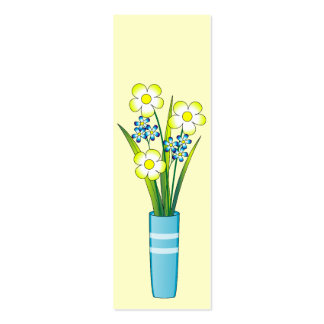 Flowers in a blue vase business cards