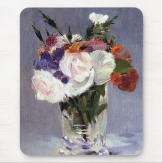 Flowers in a Crystal Vase Edouard Manet Fine Art Mousepad
