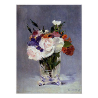 Flowers in a Crystal Vase Fine Art Poster