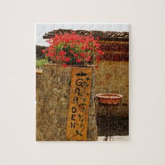 Flowers in a garden, Monteriggioni, Siena Jigsaw Puzzle