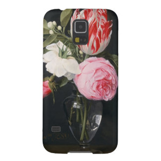 Flowers in a glass vase cases for galaxy s5