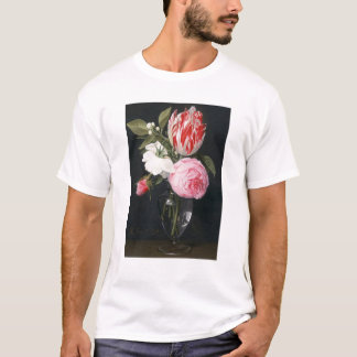 Flowers in a glass vase T-Shirt