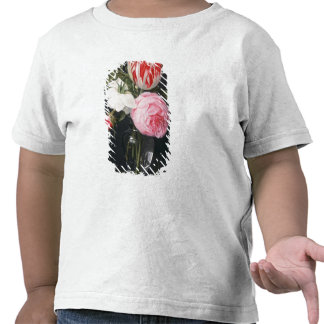 Flowers in a glass vase tees