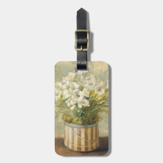 Flowers in a Hat Box Luggage Tag
