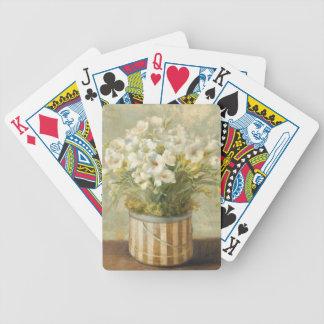 Flowers in a Hat Box Poker Deck